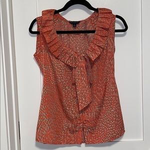 Sleeveless coral blouse